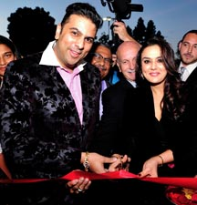 Saurah Gadgil and Preity Zinta